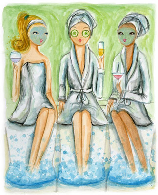 spa party caricatura